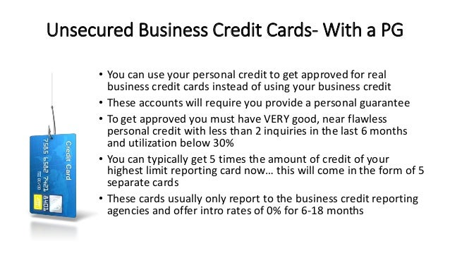 7 secrets to getting approved for business financing cards no personal guarantee from you is required 11 unsecured business credit reheart Choice Image