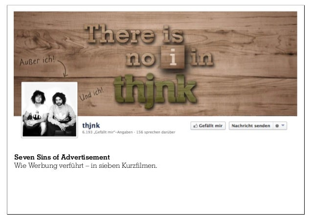 Seven Sins of Advertisement Wie Werbung verführt – in sieben Kurzfilmen.