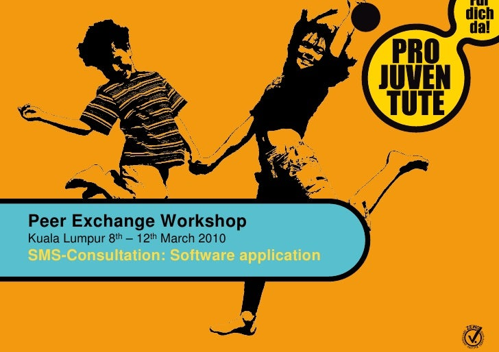 Peer Exchange Workshop Kuala Lumpur 8th – 12th March 2010 SMS-Consultation: Software application