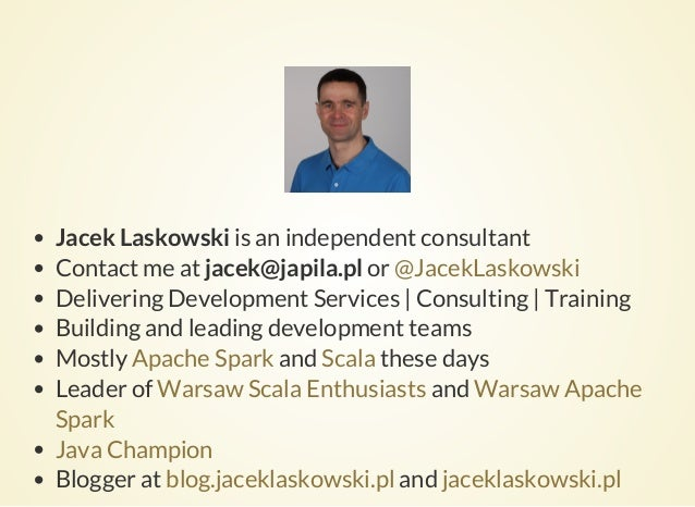 Beneath RDD in Apache Spark by Jacek Laskowski Slide 2