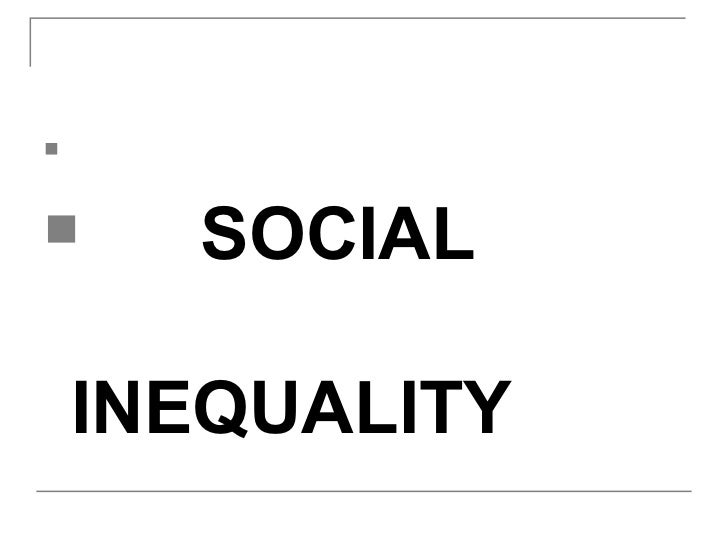 social inequality 2 essay