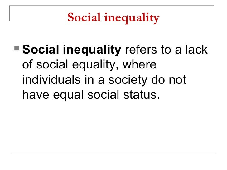 social inequality pdf