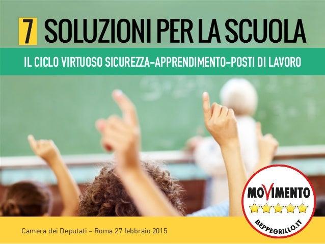 Camera dei Deputati – Roma 27 febbraio 2015 IL CICLO VIRTUOSO SICUREZZA-APPRENDIMENTO-POSTI DI LAVORO