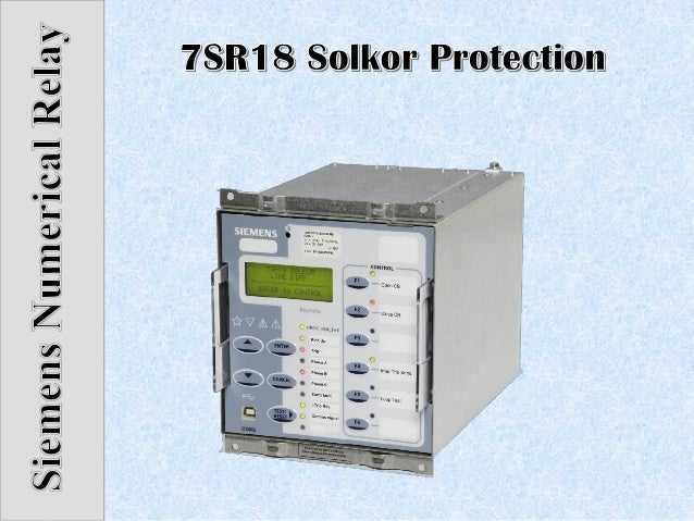 7SR18 Solkor Protection Relay