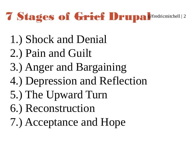 the 7 stages of grieving play