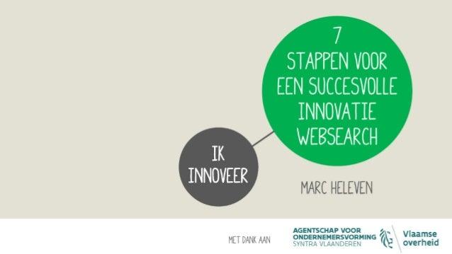7 stappen voor een succesvolle innovatie websearch