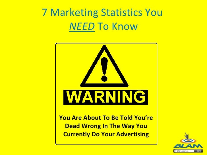 7 Marketing Statistics You  NEED  To Know You Are About To Be Told You're Dead Wrong In The Way You Currently Do Your Adve...