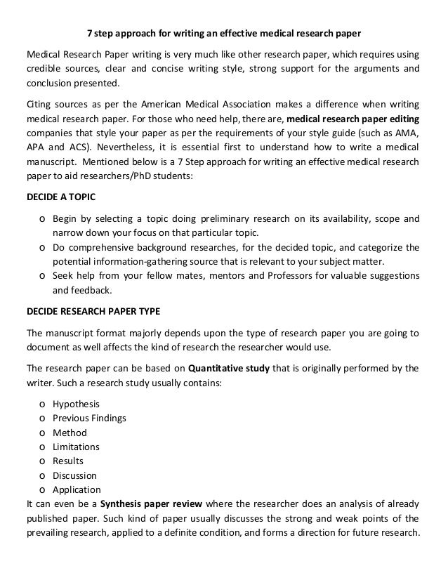 step approach for writing an effective medical research paper jpg cb  7 step approach for writing an effective medical research paper medical research paper writing is very