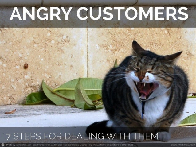 7 steps for dealing with angry customers