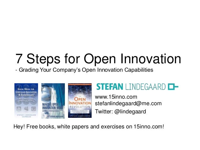 7 Steps for Open Innovation  - Grading Your Company's Open Innovation Capabilities  www.15inno.com  stefanlindegaard@me.co...