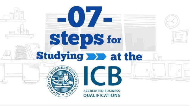 7 steps for studying at the icb