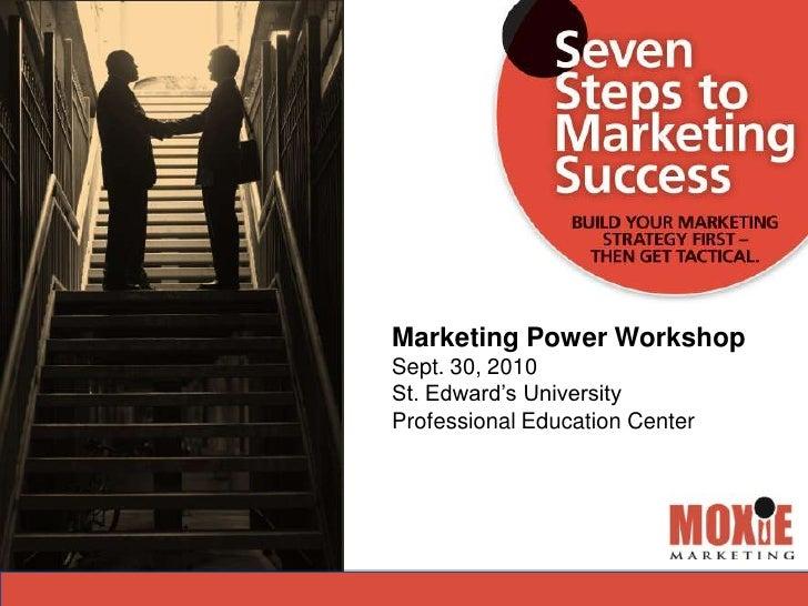 7steps marketing power workshop 9.30.10