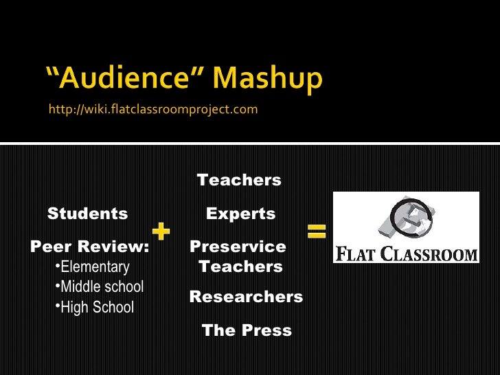 <ul><li>http://wiki.flatclassroomproject.com </li></ul>Students <ul><li>Peer Review: </li></ul><ul><ul><li>Elementary </li...