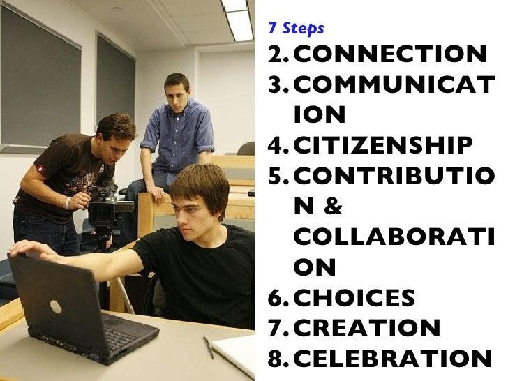 <ul><li>7 Steps </li></ul><ul><li>CONNECTION </li></ul><ul><li>COMMUNICATION </li></ul><ul><li>CITIZENSHIP </li></ul><ul><...