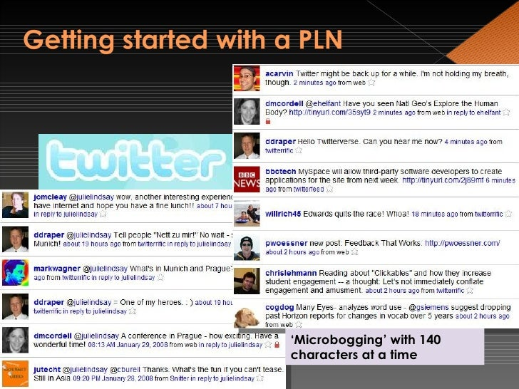 ' Micro-Blogging' ' Microbogging' with 140 characters at a time