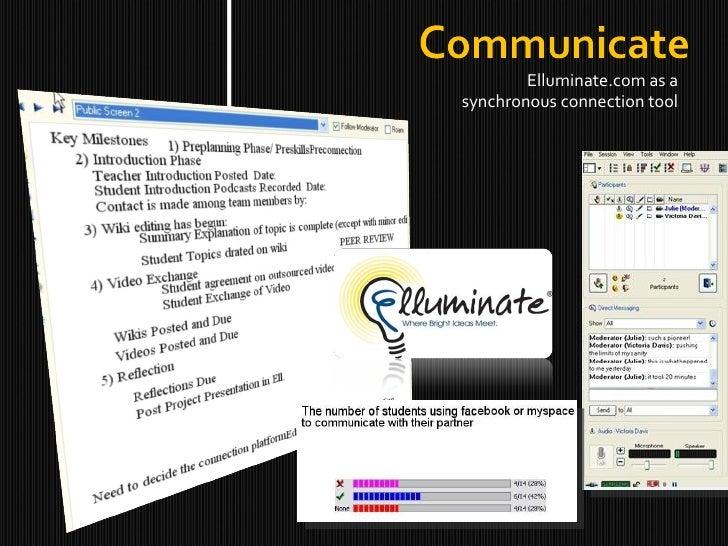 <ul><li>Elluminate.com as a synchronous connection tool </li></ul>