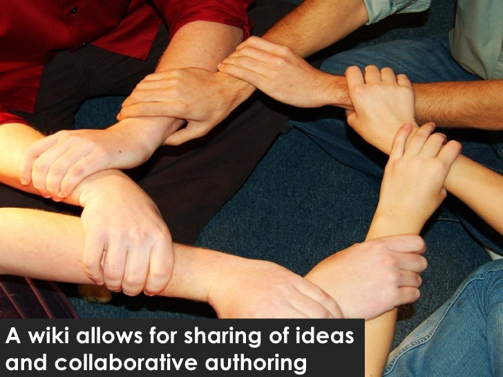 A wiki allows for sharing of ideas and collaborative authoring