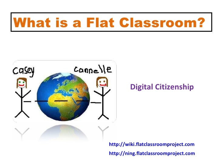 What is a Flat Classroom? Global Collaboration 3.0 Cultural Understanding Digital Citizenship Online Learning Environments...
