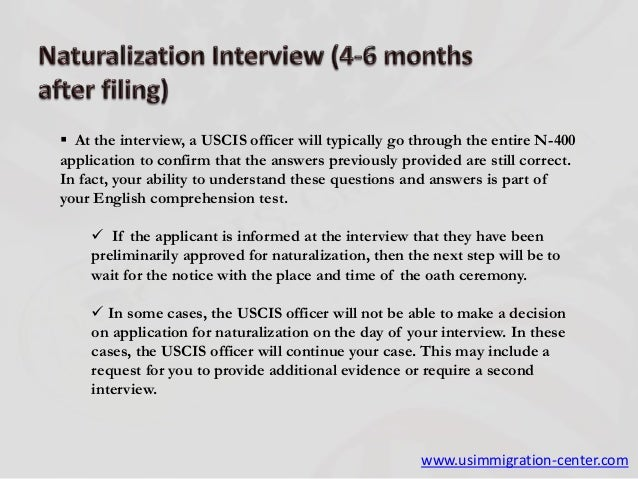 7 Steps To Be Follow After Filing N-400, Application For Naturalizati…