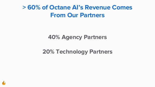 > 60% of Octane AI's Revenue Comes From Our Partners 40% Agency Partners 20% Technology Partners