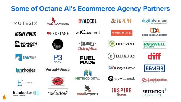 Some of Octane AI's Ecommerce Agency Partners