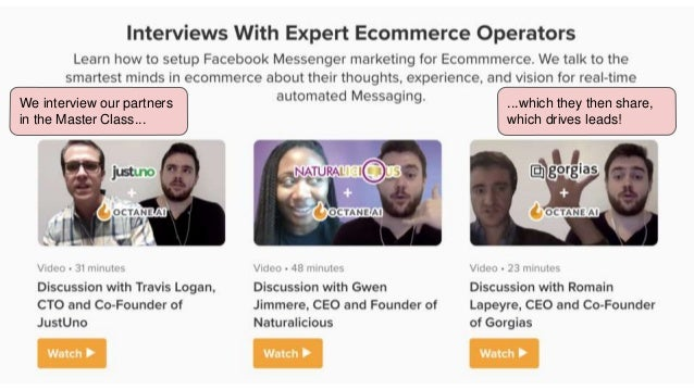 Partners can write for Ecommerce Magazine, a publication Octane AI created to educate consumers on ecommerce.