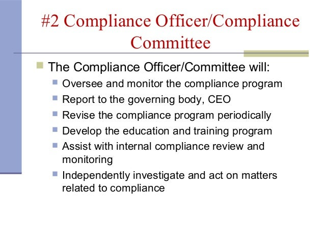 7 steps to a compliance program by medsafe - Compliance officer certification programs ...