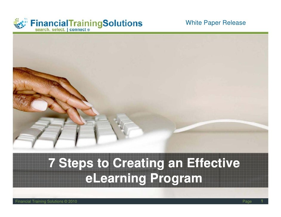 Staff Session                                         White Paper Release                       7 Steps to Creating an Eff...