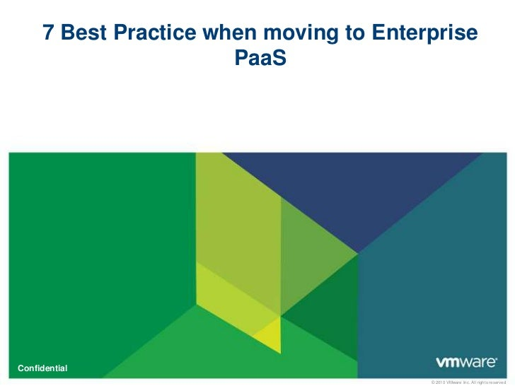 7 Best Practice when moving to Enterprise    PaaS<br />