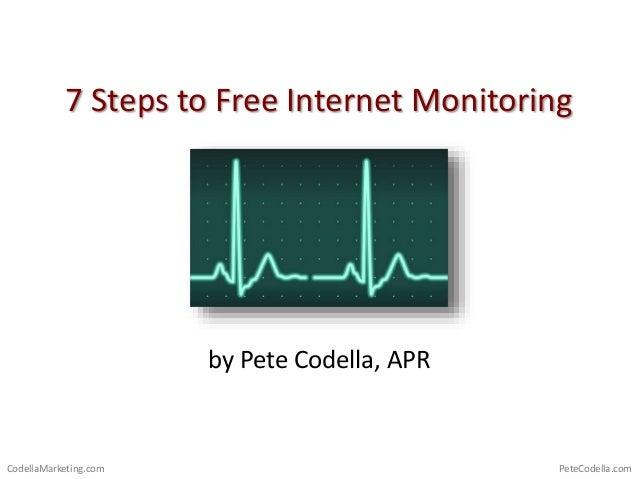 PeteCodella.comCodellaMarketing.com 7 Steps to Free Internet Monitoring by Pete Codella, APR