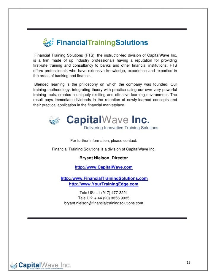 Finaancial Training Solution (FTS), the instructor-                                   ns          e         ...