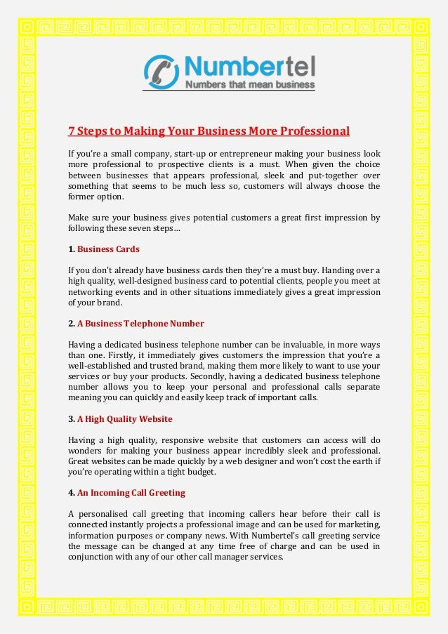 7 steps to making your business more professional 7 steps to making your business more professional if youre a small company reheart Image collections
