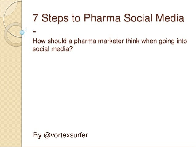 7 Steps to Pharma Social Media-How should a pharma marketer think when going intosocial media?By @vortexsurfer