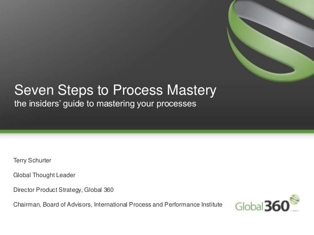 1 Copyright 2009 © All rights reserved. Global 360 Inc.1Seven Steps to Process Masterythe insiders' guide to mastering you...