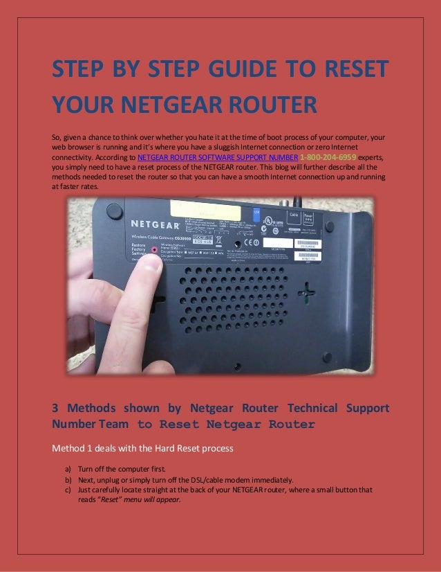7 STEPS TO RESET YOUR NETGEAR ROUTER ?