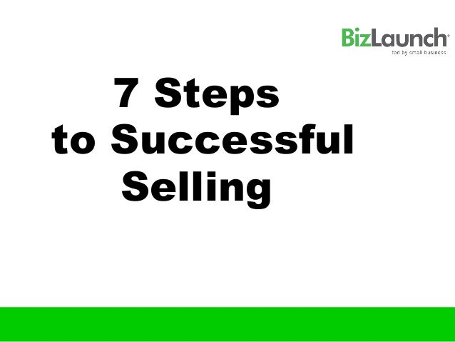 7 Stepsto Successful   Selling