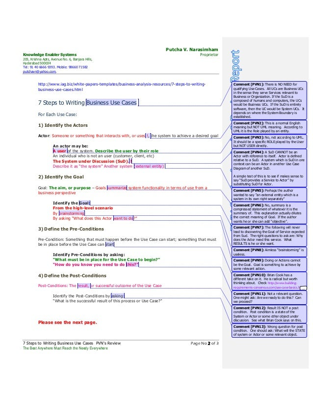 How to Write a Business Case Template