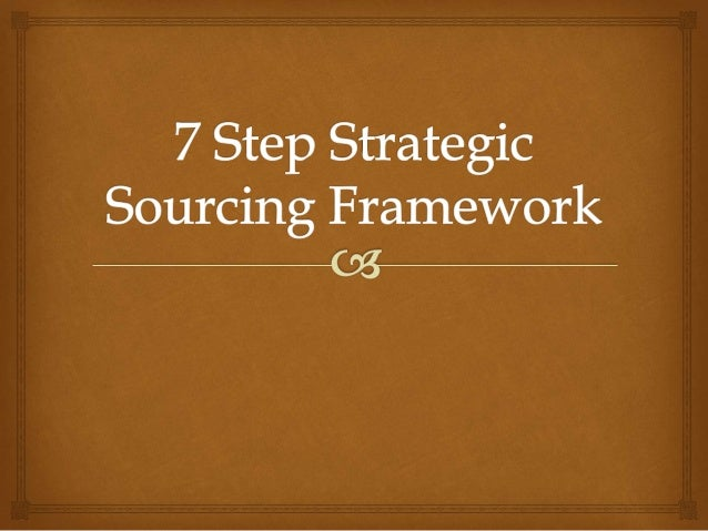  Introduction  Key to successful Implementation  7 Step Sourcing Process Index