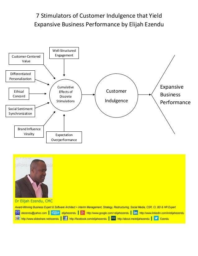 7 Stimulators of Customer Indulgence that Yield Expansive Business Performance by Elijah Ezendu  '  Cumulative Effects of ...