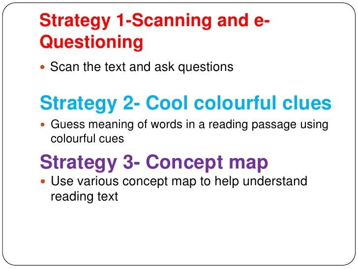 strategies for improving the reading comprehension Action research question the area of focus of this research is to improve reading comprehension through the use of reading strategies the teacher researcher believes that without a solid foundation of reading strategies the students will struggle throughout their academic and adult life.