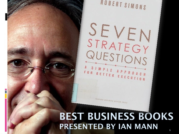 BEST BUSINESS BOOKSPRESENTED BY IAN MANN   1