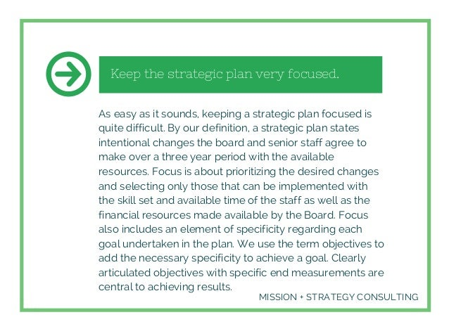 Success Factors For Strategic Planning