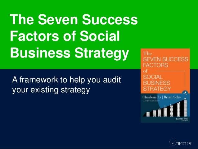 Seven Success Factors of a Social Business Strategy