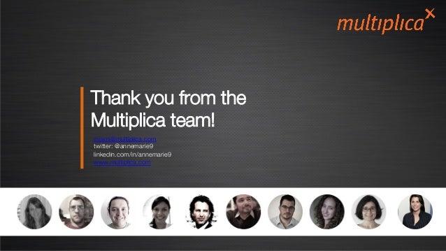 Thank you from the Multiplica team! miami@multiplica.com  twitter: @annemarie9 linkedin.com/in/annemarie9 www.multiplica.c...