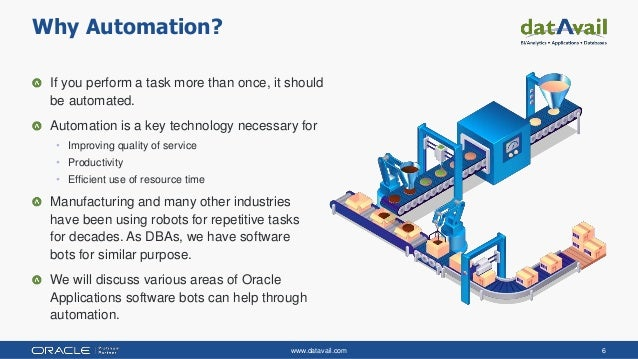 www.datavail.com 6 If you perform a task more than once, it should be automated. Automation is a key technology necessary ...