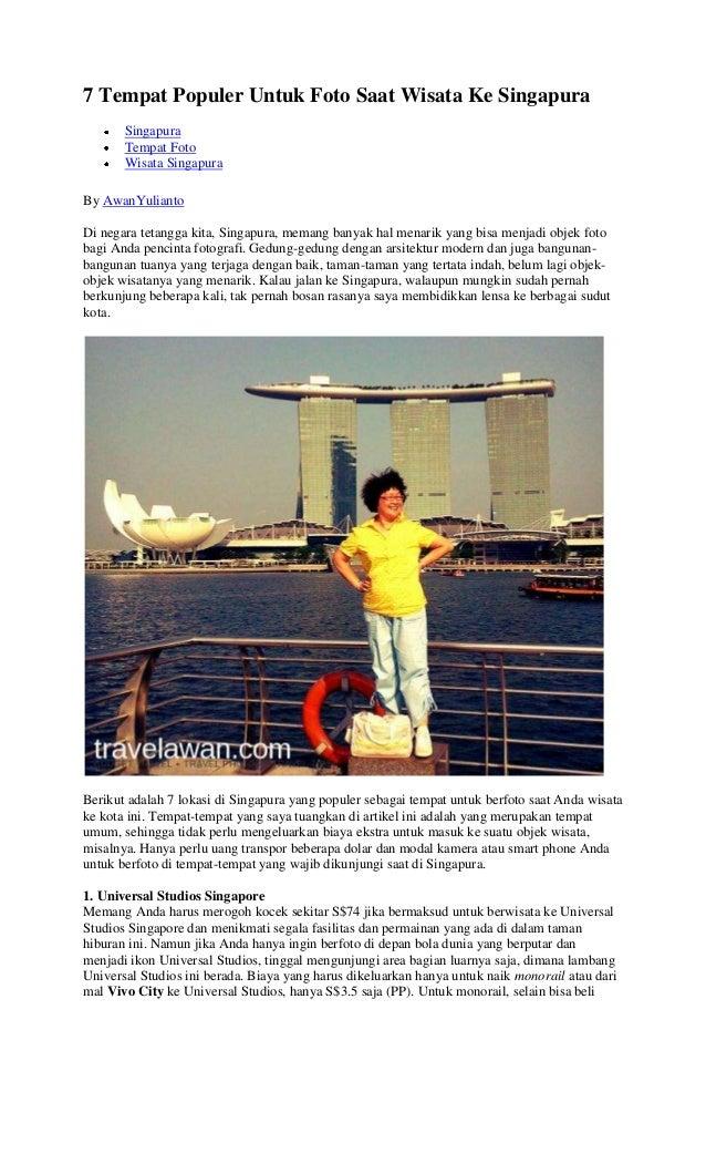 7 Tempat Populer Untuk Foto Saat Wisata Ke Singapura Singapura Tempat Foto Wisata Singapura By AwanYulianto Di negara teta...