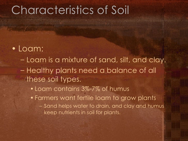 7th grade chapter 1 lesson 3 for Different types of soil and their characteristics