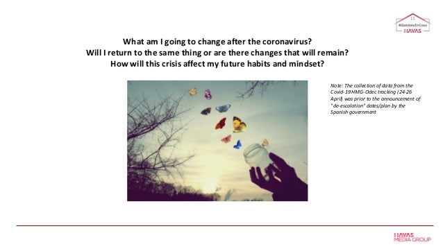 What am I going to change after the coronavirus? Will I return to the same thing or are there changes that will remain? Ho...