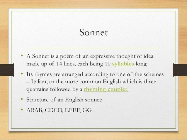 sonnets for kids