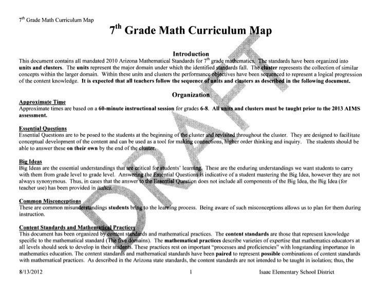 i h Grade Math Curriculum Map                                       7th    Grade Math Curriculum                          ...